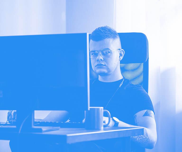 WordPress developer working on a new project