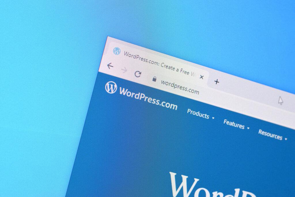 WordPress.com website displayed in a web browser