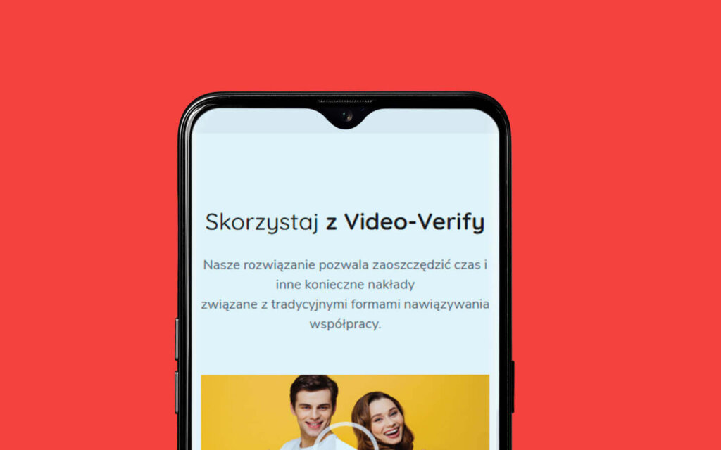 Video-verify on mobile screen